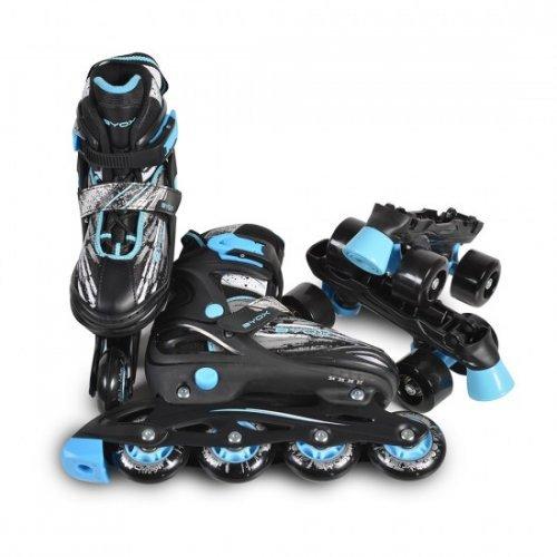 ΠΑΤΙΝΙΑ BYOX ROLLER SKATES 2IN1 DOUBLE S/30-33/ BLUE 3800146226503